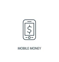 mobile money concept line icon simple element vector image