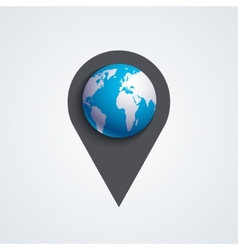 Modern map pointer icon vector