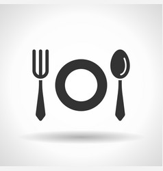 Monochromatic tableware icon with hovering effect vector
