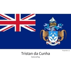 National flag of Tristan da Cunha with correct vector