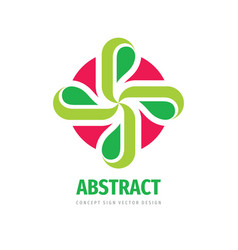 nature concept logo design cross with green vector image