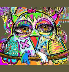 Original abstract digital painting artwork of vector