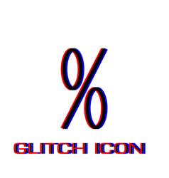 percent icon flat vector image