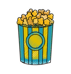 Popcorn food in the cinema movie eat vector