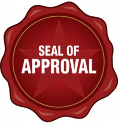Quality seal approval vector