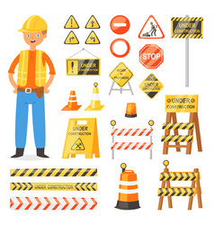 road sign traffic street warning and vector image