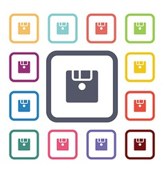 Save flat icons set vector