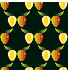 Seamless pattern with mangoes vector image