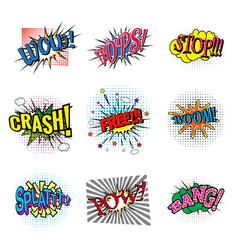 Set of bubbles speech oops expression and speak vector