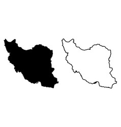 Simple only sharp corners map - islamic republic vector