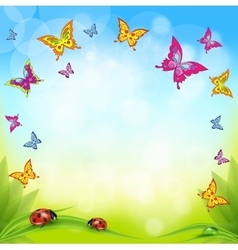 Spring or summer nature background with vector