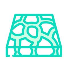 Stone floor color icon vector