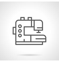 Tailor machine black line icon vector