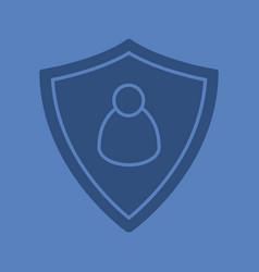User security glyph color icon vector
