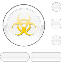 Virus white button vector