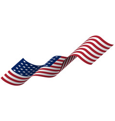 waving flag united states america vector image