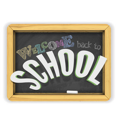 welcome back to school chalkboard banner isolated vector image