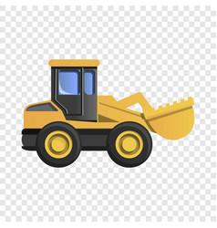 Wheel excavator icon cartoon style vector