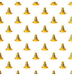 Yellow and black traffic cone pattern vector