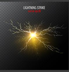 yellow lightning bolt vector image