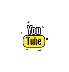 Youtube icon design vector