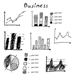 business finance hand drawn elements vector image vector image