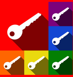 key sign set of icons with vector image