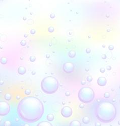 Soap bubbles background vector image vector image