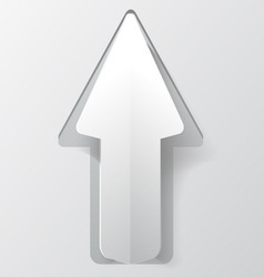 White paper arrow with shadow Background for your vector image