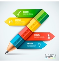 Abstract infographic pencil template vector image vector image