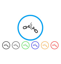 broken chain rounded icon vector image vector image