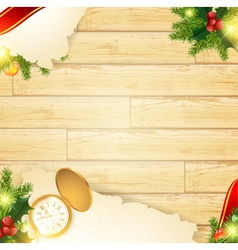christmas vintage wooden background vector image vector image