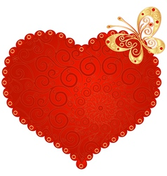 romantic vintage heart vector image