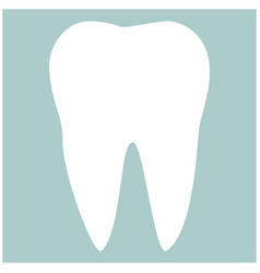 tooth the white color icon vector image vector image