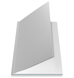 White open book front page vector image vector image