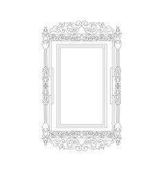 Baroque Rococo frame decor vector image vector image