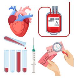 donate blood concept set vector image