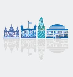 London landmark Buildings vector image