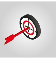 The target icon aim darts symbol3d isometric vector