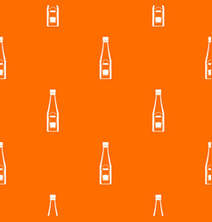 bottle of ketchup pattern seamless vector image vector image