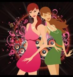 dance floor honeys vector image vector image