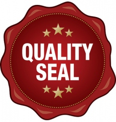 quality seal vector image vector image
