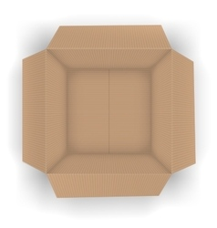Recycle brown box vector image vector image