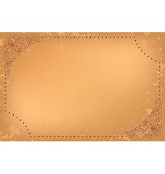 vintage beige card with floral decoration vector image vector image
