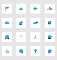 Weather colorful icons set collection of breeze vector