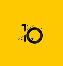 10 years anniversary celebration gradient yellow vector