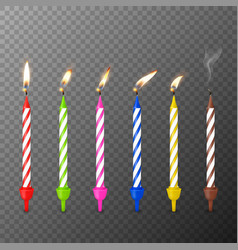 3d realistic paraffin or wax birthday party vector