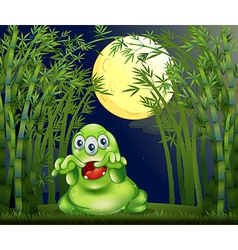 A monster in the middle of the bamboo forest vector image