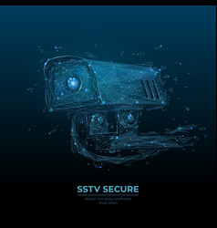 Abstract sstv secure camera vector