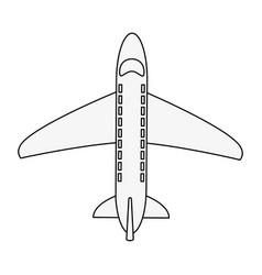Airplane jet topview vector